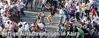 Zusammenstöße zwischen Muslimbrüdern und Liberalen auf dem Kairoer Tahrirplatz