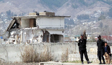 Bin Ladens Haus in Abbottabad, Pakistan