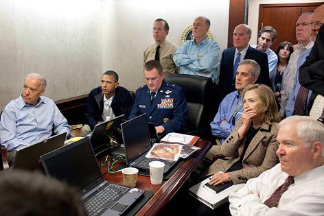 Die US-Führungsspitze verfolgt im Weißen Haus den Angriff in Pakistan