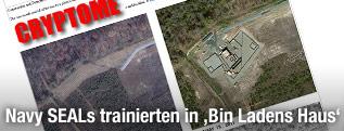 Screenshot eines Nachbaus von Bin Ladens Versteck