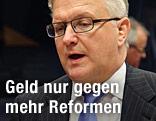 EU-Wirtschafts- und -Währungskommissar Olli Rehn