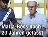 'Ndrangheta-Boss Domenico Condello bei seiner Verhaftung