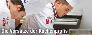Köche bei der Kochkunstaustellung in Erfurt