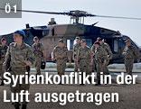 Militärhubschrauber an türkischer Grenze zur Syrien