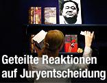 Bücher von Mo Yan auf der Frankfurter Buchmesse