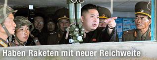 Kim Jong Un bei seinem Besuch in einer Militäreinheit