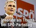 Bundeskanzler Werner Faymann beim SPÖ-Parteitag