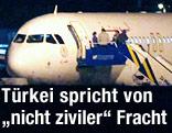 Der syrische Airbus am Flughafen von Ankara