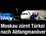 Syrisches Passagierflugzeug in Ankara