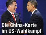 US-Präsident Barack Obama und sein Wahlgegner Mitt Romney