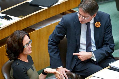 Josef Bucher und Eva Glawischnig