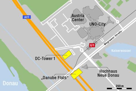 Karte zur Donauplatte