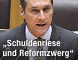 FPÖ-Klubchef Heinz-Christian Strache