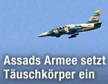 Kampfflugzeug der syrischen Luftwaffe