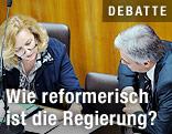 Finanzministerin Maria Fekter und Bundeskanzler Werner Faymann