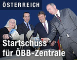 Grundsteinlegung der ÖBB-Zentrale