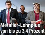 Arbeitnehmervertreter Rainer Wimmer (Pro-Ge) und Karl Proyer (GPA)