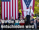 Obama bei einer Wahlkmapfrede in Ohio