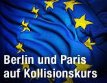 Zerknitterte EU-Fahne