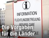 "Informationstafel ""Flüchtlingsbetreuung"""