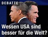 Der republikanische Präsidentschaftskandidat Mitt Romney und US-Präsident Barack Obama