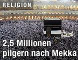 Pilger in der großen Moschee in Mekka