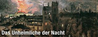"""Ölgemälde von Theodor von Hörmann """"Paris bei Nacht mit Eiffelturm"""", 1889"""