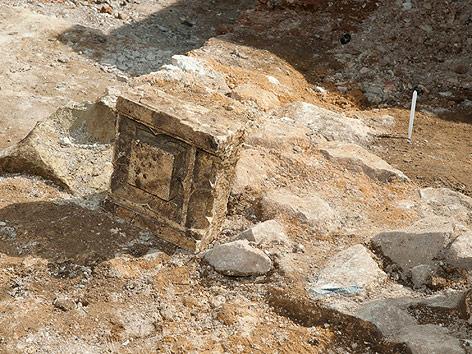 Archäologische Ausgrabung in Leicester