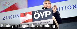 Vizekanzler Michael Spindelegger (ÖVP) während seiner Rede