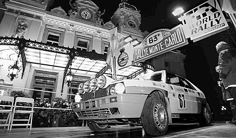 Lancia Delta Integrale bei Monte Carlo Rallye