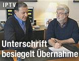 """Disney-Chef Bob Iger und """"Star Wars""""-Erfinder George Lucas"""