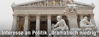 Die Pallas-Athene-Statue vor dem Parlament