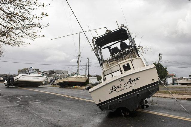 Boote auf einer Straße in New Jersey