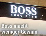 Logo an einem Hugo-Boss-Geschäft