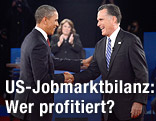 US-Präsident Barack Obama und Präsidentschaftskandidat Mitt Romney