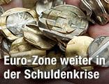 Zerstörte Euromünzen