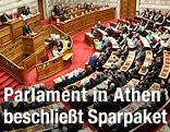Abgeordnete im griechischen Parlament