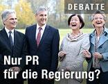 Werner Faymann, Michael Spindelegger, Johanna Mikl-Leitner und Claudia Schmied