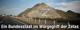 """Mit """"Z"""" gezeichneter Hügel"""
