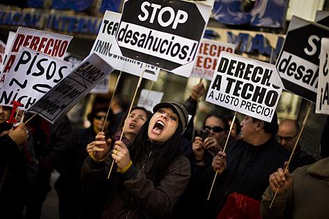 Demonstation gegen Zwangsräumungen