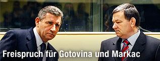 Die ehemaligen jugoslawischen Generäle Ante Gotovina und Mladen Markac