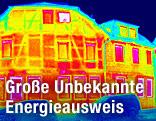 Wärmebildfoto eines Wohnhauses