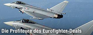 Zwei österreichische Eurofighter in der Luft