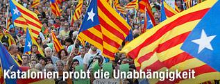 Katalanen demonstrieren für Unabhängigkeit