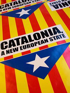 Slogan der unabhängigkeitsbefürwortenden Katalanen