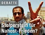 """Palästinenster macht das """"Peace-Zeichen"""""""