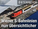 Zug im neuen Hauptbahnhof