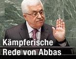 Palästinensischer Präsident Abbas hält eine Rede
