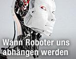 Roboter mit menschlichen Gesichtszügen
