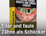 Zigarettenpackung mit Warnbild